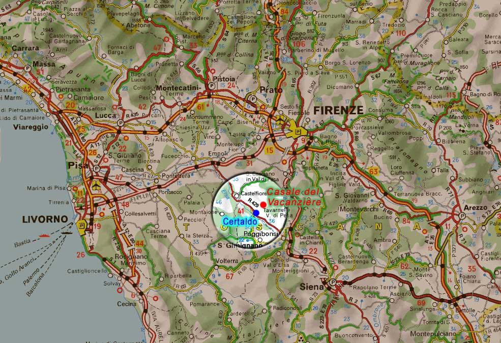 Where we are - Tuscany